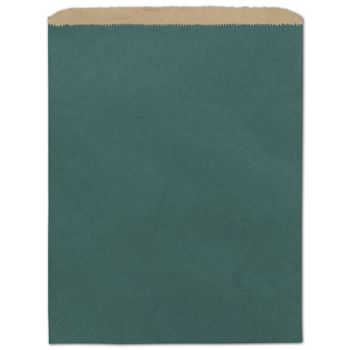 Teal Color-on-Kraft Merchandise Bags, 12 x 15