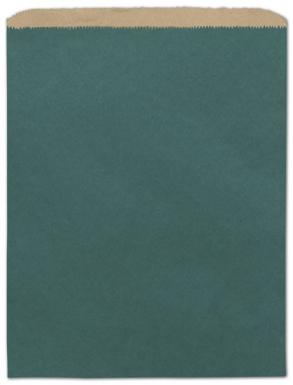 Teal Color-on-Kraft Merchandise Bags, 12 x 15""