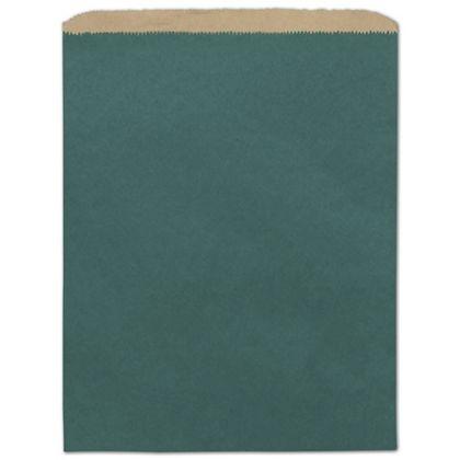 "Teal Color-on-Kraft Merchandise Bags, 12 x 15"""