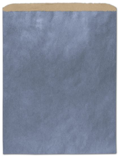"Metallic Blue Color-on-Kraft Merchandise Bags, 12 x 15"""