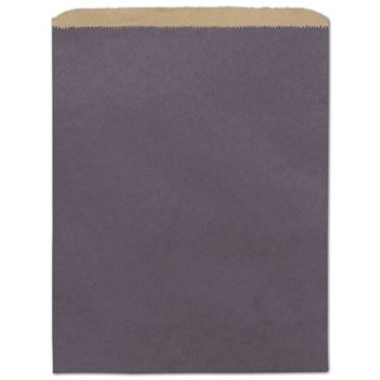 Plum Color-on-Kraft Merchandise Bags, 12 x 15