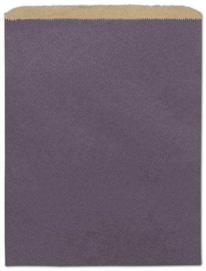 "Plum Color-on-Kraft Merchandise Bags, 12 x 15"""