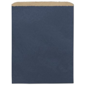 Dark Blue Color-on-Kraft Merchandise Bags, 12 x 15