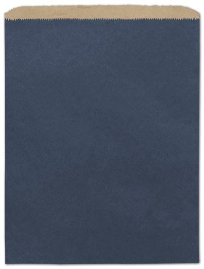 "Dark Blue Color-on-Kraft Merchandise Bags, 12 x 15"""