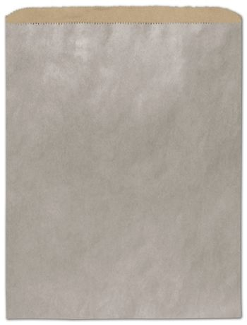 Metallic Silver Color-on-Kraft Merchandise Bags, 12 x 15