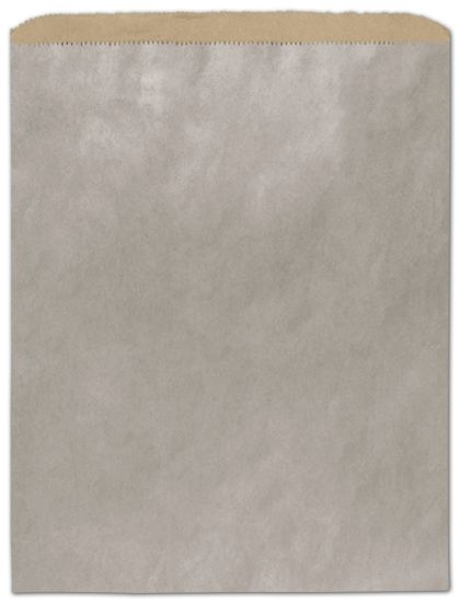 "Metallic Silver Color-on-Kraft Merchandise Bags, 12 x 15"""