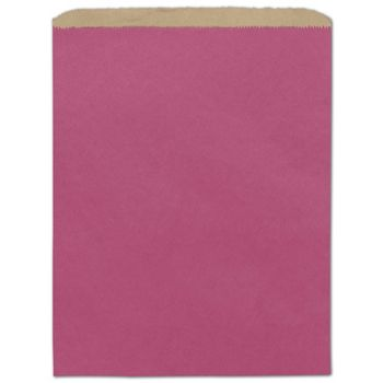 Cerise Color-on-Kraft Merchandise Bags, 12 x 15