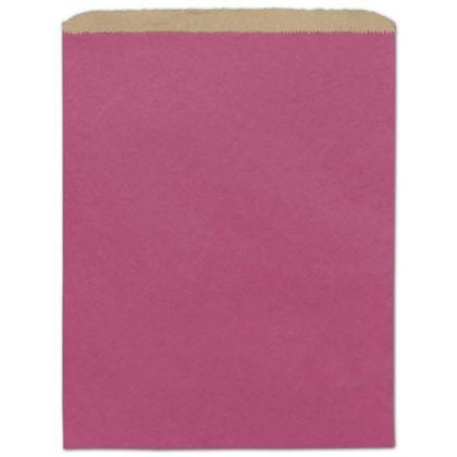 """Cerise Color-on-Kraft Merchandise Bags, 12 x 15"""""""