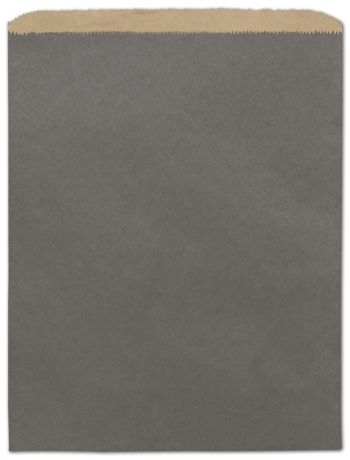 Storm Grey Color-on-Kraft Merchandise Bags, 12 x 15
