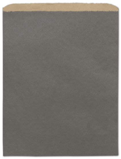 "Storm Grey Color-on-Kraft Merchandise Bags, 12 x 15"""