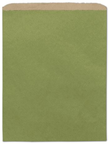Rainforest Green Color-on-Kraft Merchandise Bags, 12 x 15
