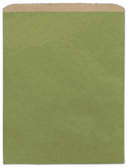 "Rainforest Green Color-on-Kraft Merchandise Bags, 12 x 15"""