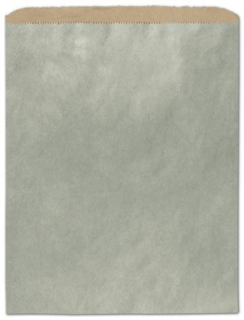 Metallic Sage Color-on-Kraft Merchandise Bags, 12 x 15
