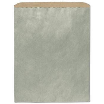 Metallic Sage Color-on-Kraft Merchandise Bags, 12 x 15