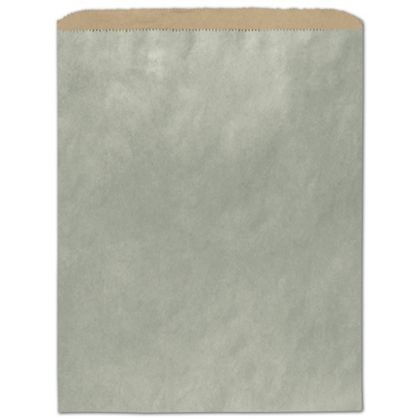 "Metallic Sage Color-on-Kraft Merchandise Bags, 12 x 15"""