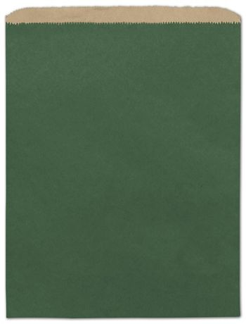 Forest Green Color-on-Kraft Merchandise Bags, 12 x 15
