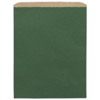 Forest Green Color-on-Kraft Merchandise Bags, 12 x 15""