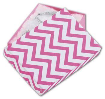 Chevron Calypso Pink Eco Tone Jewelry Boxes, 3x2 1/8x1