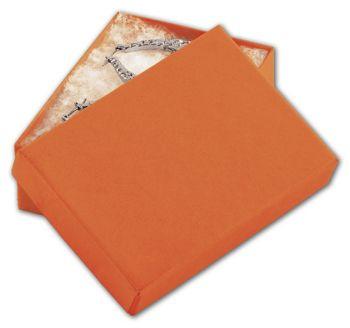 Orange Tango Eco Tone Jewelry Boxes, 3 x 2 1/8 x 1