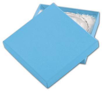 Blue Jazz Eco Tone Jewelry Boxes, 3 1/2 x 3 1/2 x 7/8