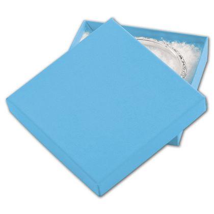 """Blue Jazz Eco Tone Jewelry Boxes, 3 1/2 x 3 1/2 x 7/8"""""""