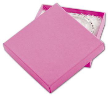 Calypso Pink Eco Tone Jewelry Boxes, 3 1/2 x 3 1/2 x 7/8