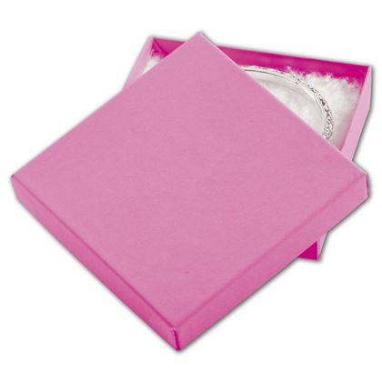 """Calypso Pink Eco Tone Jewelry Boxes, 3 1/2 x 3 1/2 x 7/8"""""""