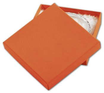 Orange Tango Eco Tone Jewelry Boxes, 3 1/2 x 3 1/2 x 7/8