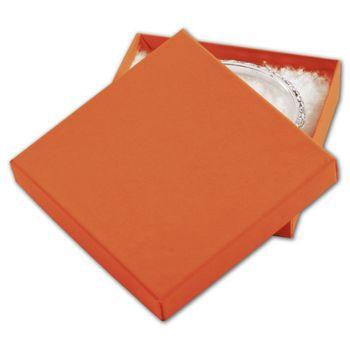Orange Tango Eco Tone Jewelry Boxes, 3 1/2 x 3 1/2 x 7/8