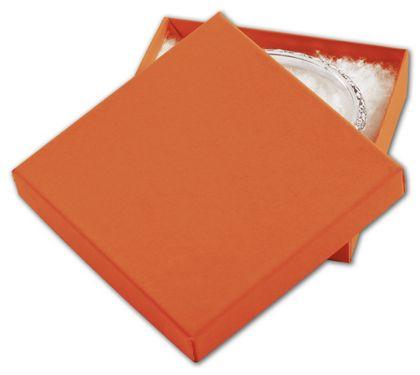 """Orange Tango Eco Tone Jewelry Boxes, 3 1/2 x 3 1/2 x 7/8"""""""