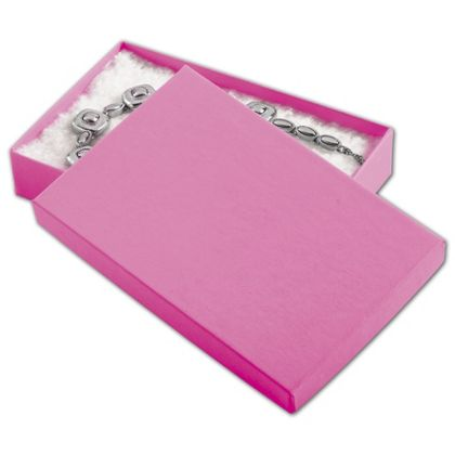 """Calypso Pink Eco Tone Jewelry Boxes, 5 7/16 x 3 1/2 x 1"""""""