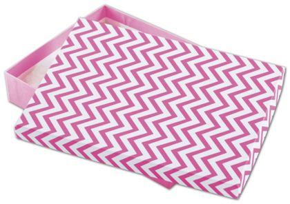 """Chevron Calypso Pink Eco Tone Jewelry Boxes, 7x5x1 1/4"""""""