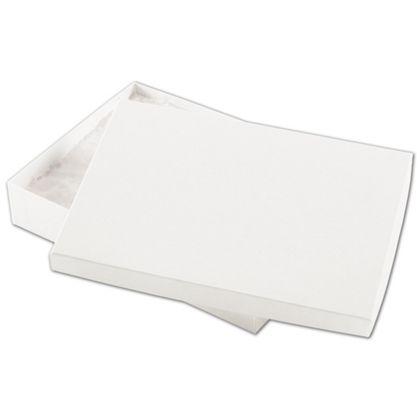 "White Kraft Eco Tone Jewelry Boxes, 7 x 5 x 1 1/4"""