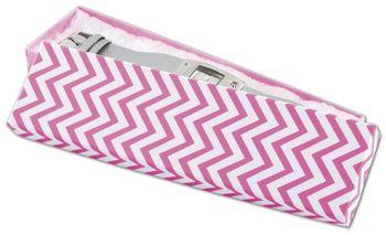 Chevron Calypso Pink Eco Tone Jewelry Boxes, 8 x 2 x 7/8