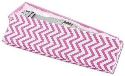 """Chevron Calypso Pink Eco Tone Jewelry Boxes, 8 x 2 x 7/8"""""""