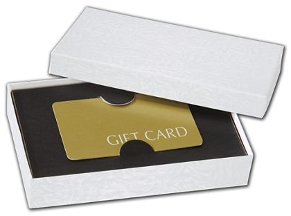 """Black Embossed Gift Card Inserts, 5 7/16 x 3 1/2 x 1"""""""