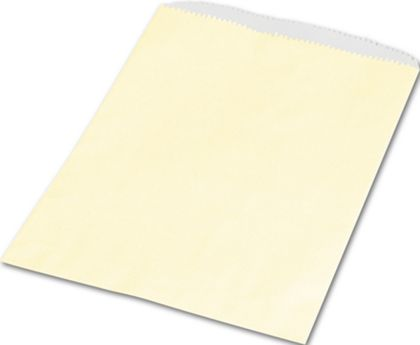 "Cream Paper Merchandise Bags, 6 1/4 x 9 1/4"""