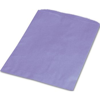 Purple Paper Merchandise Bags, 6 1/4 x 9 1/4""