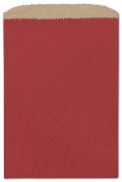 Brick Red Paper Merchandise Bags, 6 1/4 x 9 1/4""