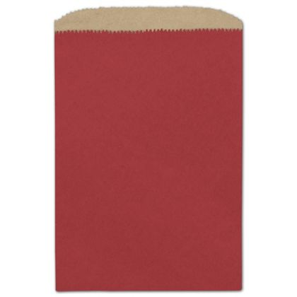 Brick Red Paper Merchandise Bags, 6 1/4 x 9 1/4