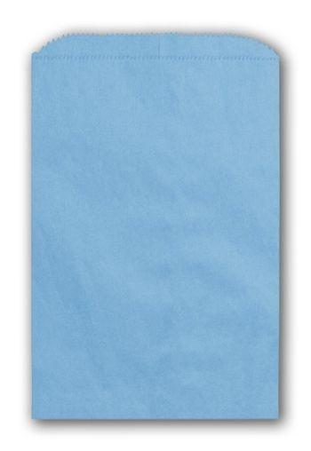 Sky Blue Paper Merchandise Bags, 6 1/4 x 9 1/4