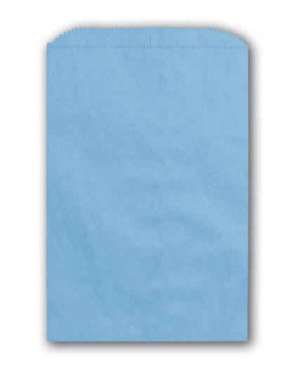 "Sky Blue Paper Merchandise Bags, 6 1/4 x 9 1/4"""