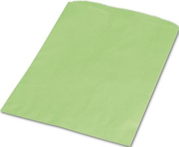Lime Green Paper Merchandise Bags, 6 1/4 x 9 1/4