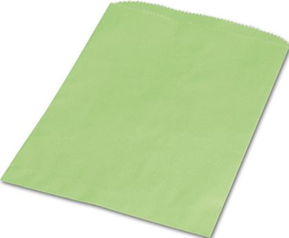 Lime Green Paper Merchandise Bags, 6 1/4 x 9 1/4""
