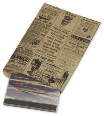 Newsprint Merchandise Bags, No Gussets, 6 1/4 x 9 1/4