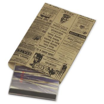 Newsprint Merchandise Bags, No Gussets, 6 1/4 x 9 1/4""