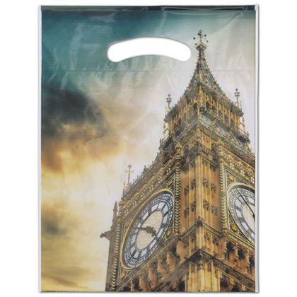 """Big Ben Merchandise Bags, 9 x 11 1/2"""" + 2"""" Bottom Gusset"""