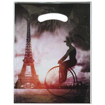"Eiffel Merchandise Bags, 9 x 11 1/2"" + 2"" Bottom Gusset"