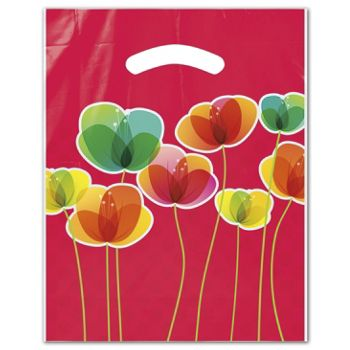 "Flora Merchandise Bags, 9 x 11 1/2"" + 2"" Bottom Gusset"