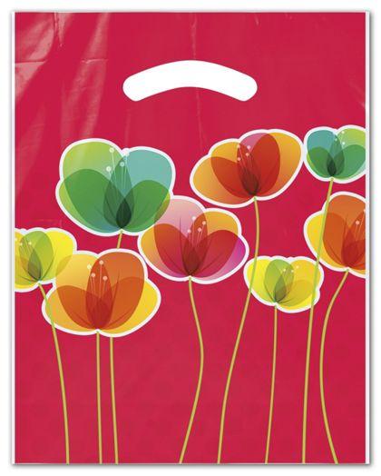 """Flora Merchandise Bags, 9 x 11 1/2"""" + 2"""" Bottom Gusset"""